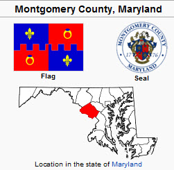 Montgomery County Maryland Map