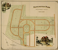 Kensington Maryland map image